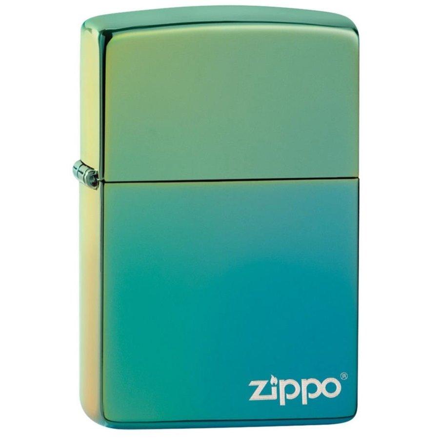 Aansteker Zippo Teal with Logo