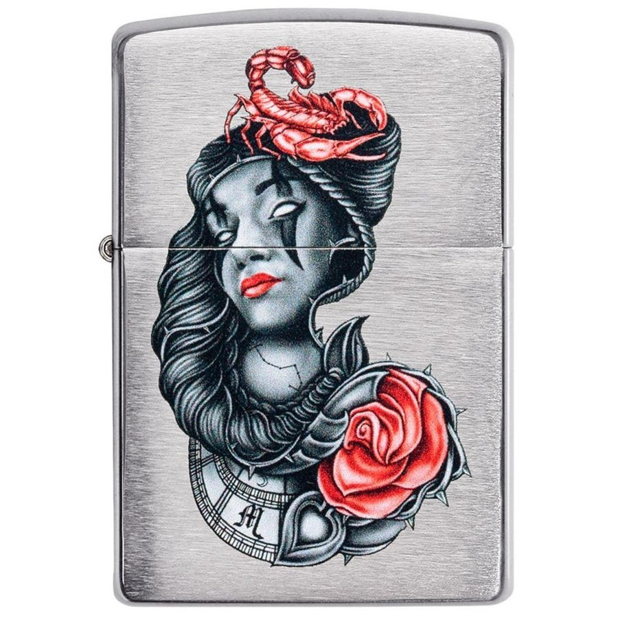 Aansteker Zippo Tattoo Rose Scorpion