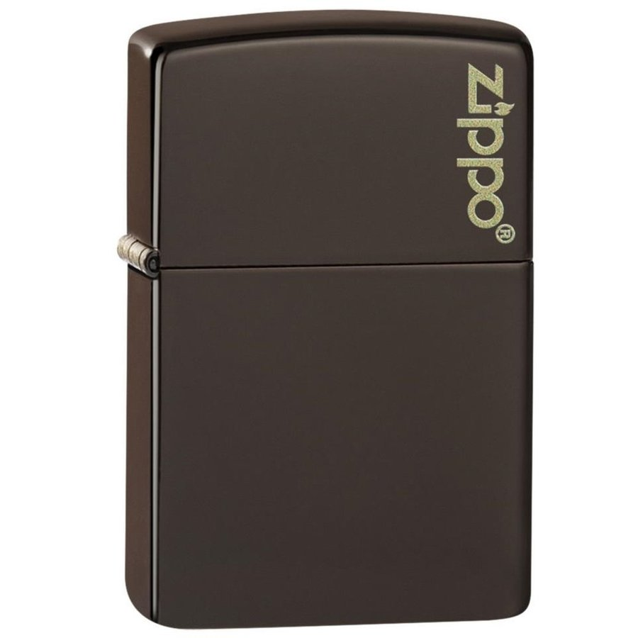 Aansteker Zippo Brown Matte with Logo