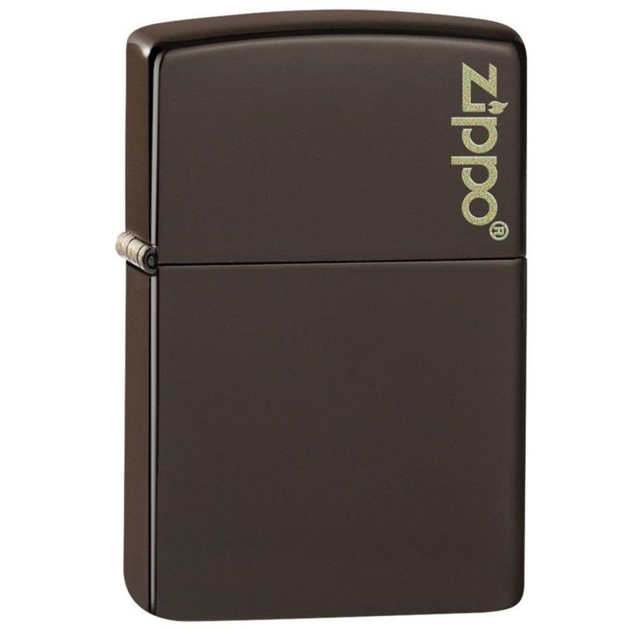 Lighter Zippo Brown Matte with Logo