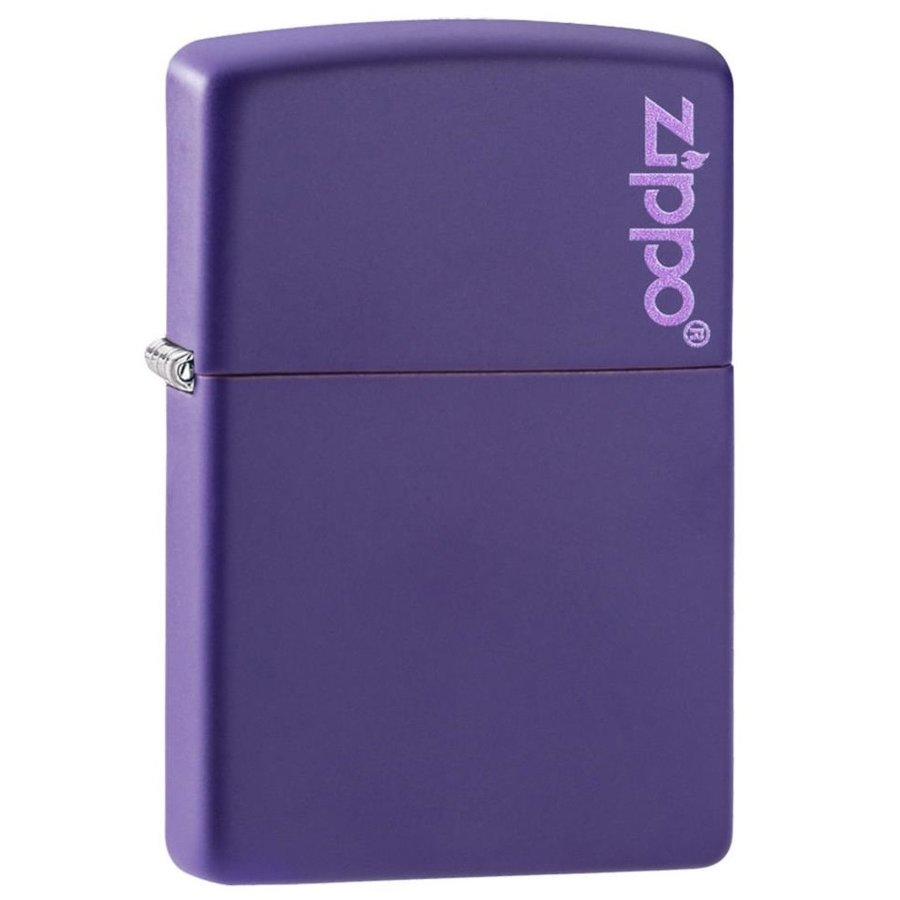Aansteker Zippo Purple Matte with Logo