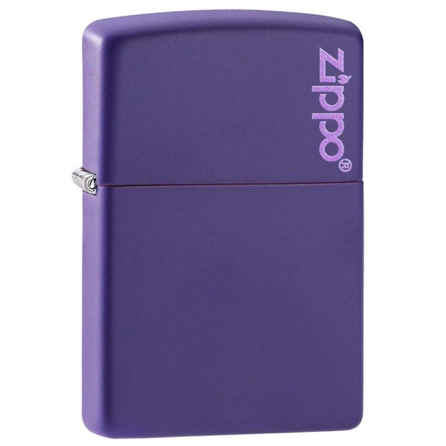 Lighter Zippo Purple Matte with Logo
