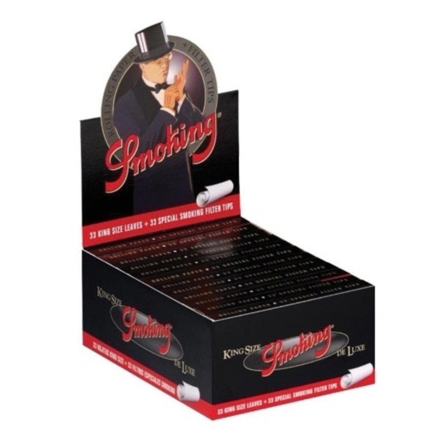 Smoking Kingsize Deluxe Black Vloei & Tips Box