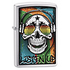 Zippo Aansteker Zippo Skull with Headphone