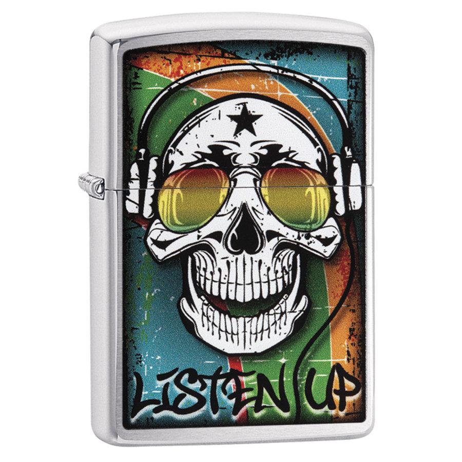 Aansteker Zippo Skull with Headphone