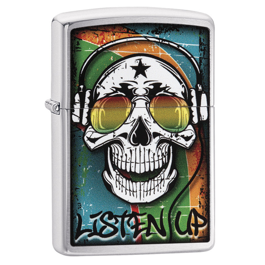 Lighter Zippo Skull with Headphone