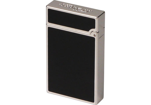 Lighter S.T. Dupont Ligne 2 Slim Black Lacquer Palladium