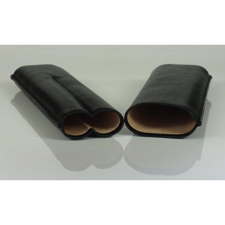 Martin Wess Sigarenetui Black Leather 2 Churchills
