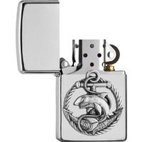 Lighter Zippo Shark Anchor Emblem