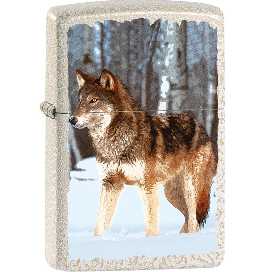 Aansteker Zippo Wolf in Winter