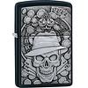 Zippo Lighter Zippo Gambling Skull Emblem