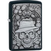 Lighter Zippo Gambling Skull Emblem