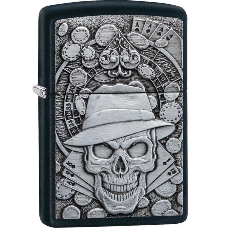 Aansteker Zippo Gambling Skull Emblem