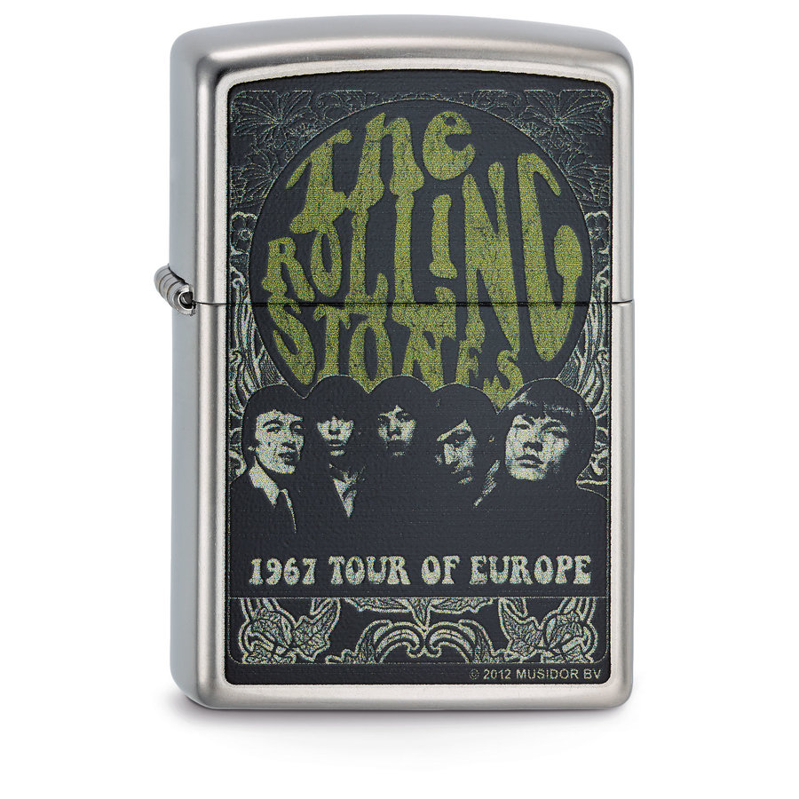Lighter Zippo Rolling Stones 1967 Tour of Europe
