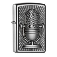 Lighter Zippo Retro Microphone Emblem