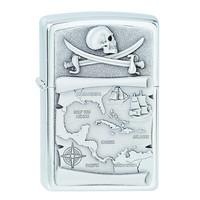 Lighter Zippo Pirates Map