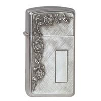 Lighter Zippo Slim Roses with Panel Emblem