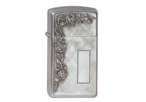 Aansteker Zippo Slim Roses with Panel Emblem