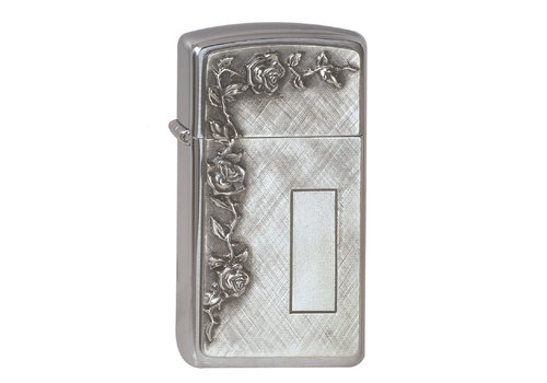 Lighter Zippo Slim Roses with Panel Emblem