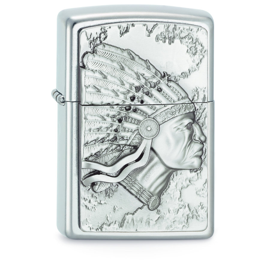 Lighter Zippo Indian Head Emblem