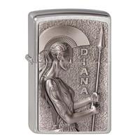 Lighter Zippo Roman Goddess  Diana Emblem