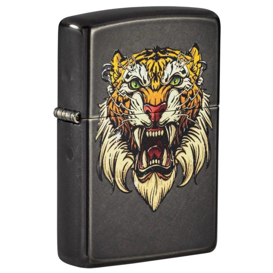 Aansteker Zippo Tiger Tattoo Design