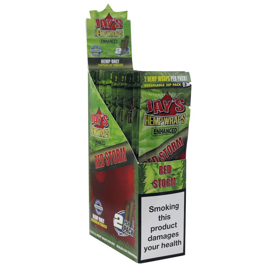 Display Juicy Jays Hemp Wraps Red Storm