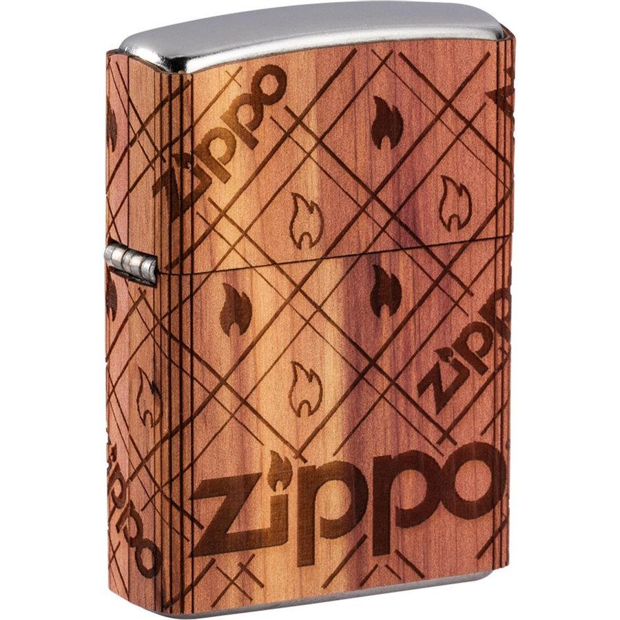 Aansteker Zippo Woodchuck All Around Flames