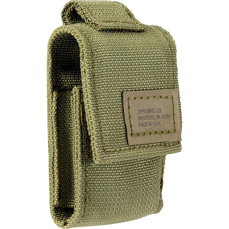 Gift Set Zippo Aansteker Black Crackle met Nylon Pouch Green