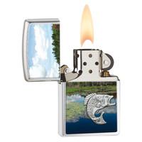 Lighter Zippo Jumping Fish Emblem
