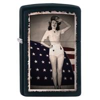 Lighter Zippo Flag Woman Salut