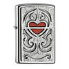 Zippo Aansteker Zippo Wood Heart Emblem