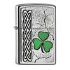 Zippo Aansteker Zippo Irish Shamrock Emblem