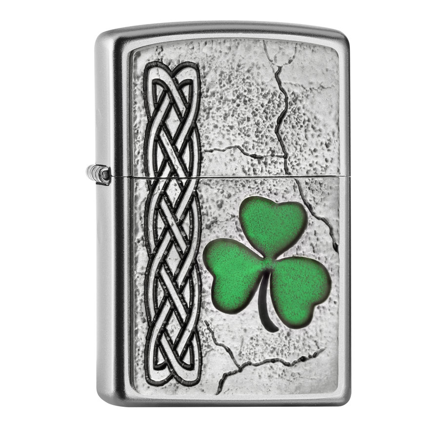 Lighter Zippo Irish Shamrock Emblem