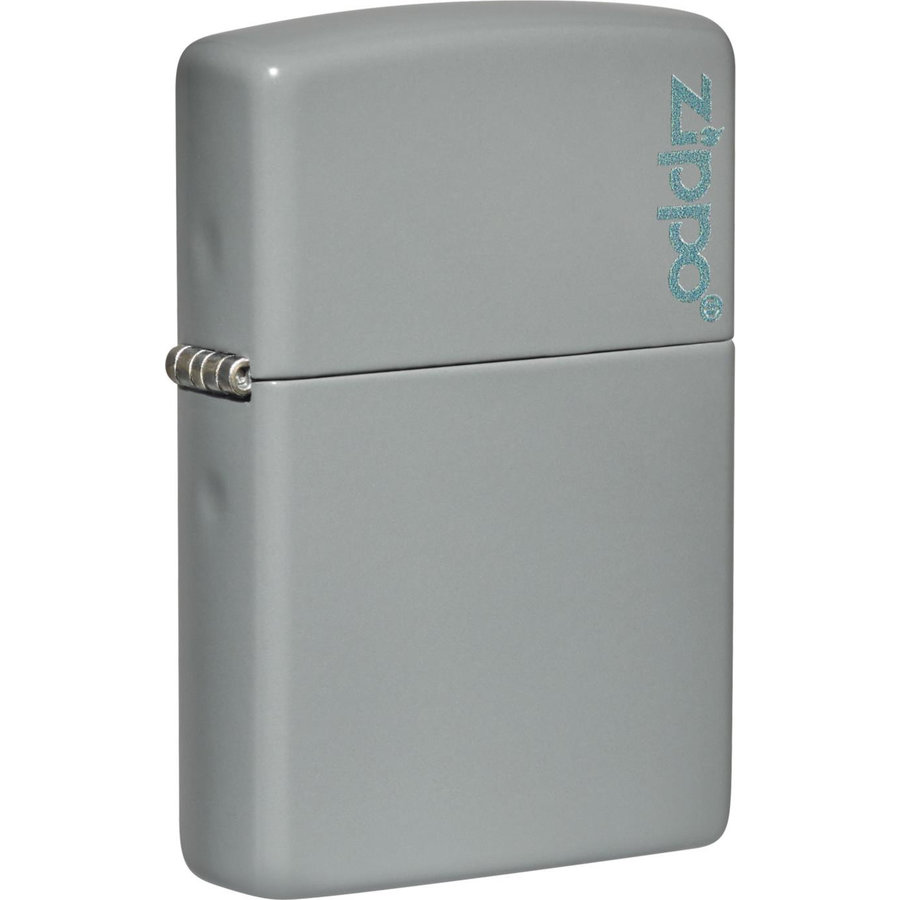 Lighter Zippo Flat Grey with Logo