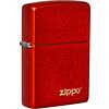 Zippo Lighter Zippo Metallic Red with Logo