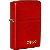 Lighter Zippo Metallic Red with Logo