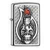 Zippo Aansteker Zippo Candle Skull Emblem