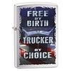 Zippo Aansteker Zippo Free by Birth Trucker by Choice