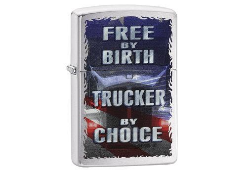 Lighter Zippo Free by Birth Trucker by Choice