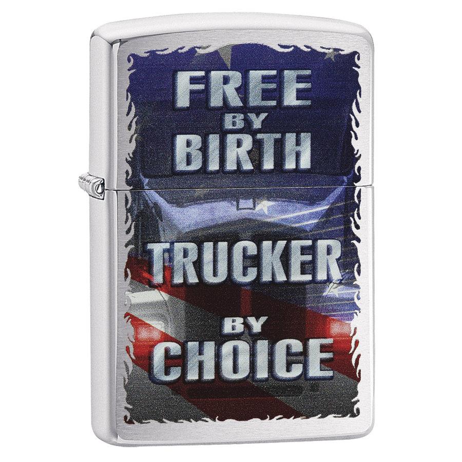 Aansteker Zippo Free by Birth Trucker by Choice