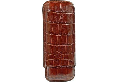 Martin Wess Cigar Case Croco Brown 2 Robustos