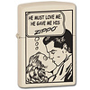 Zippo Lighter Zippo Comic Love