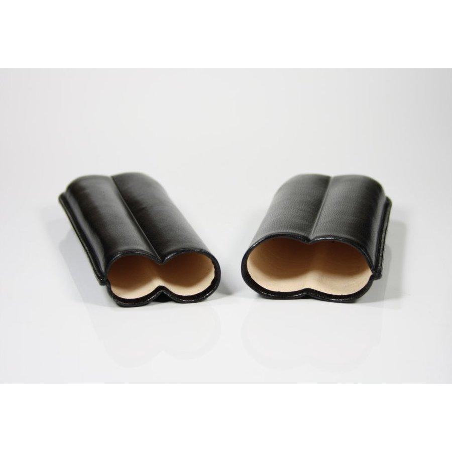 Martin Wess Cigar Case Black 2 Robustos
