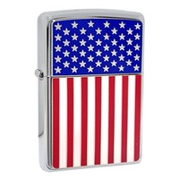 Lighter Zippo American Flag Emblem