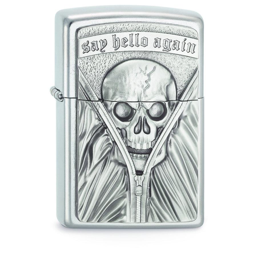 Lighter Zippo Say Hello Again Emblem