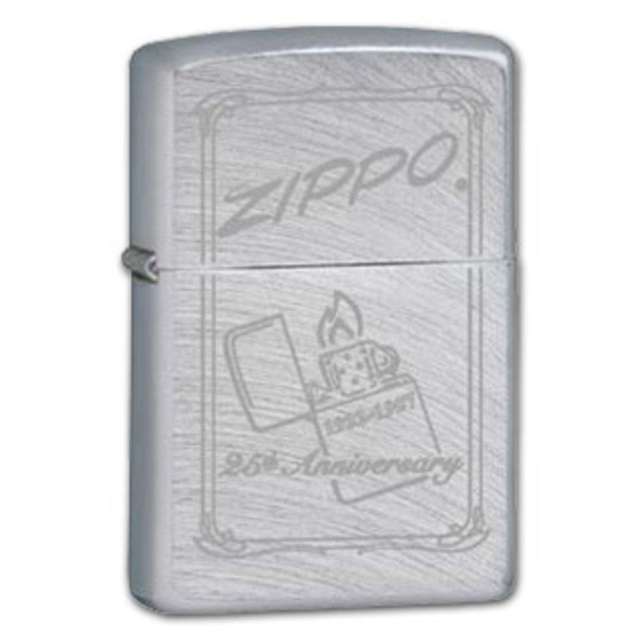 Aansteker Zippo Chrome Arch 25th Anniversary
