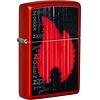 Zippo Lighter Zippo Metallic Red Gamer Design