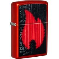 Lighter Zippo Metallic Red Gamer Design