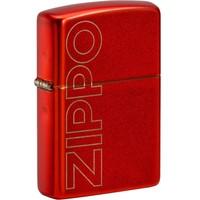 Aansteker Zippo Metallic Red with Logo